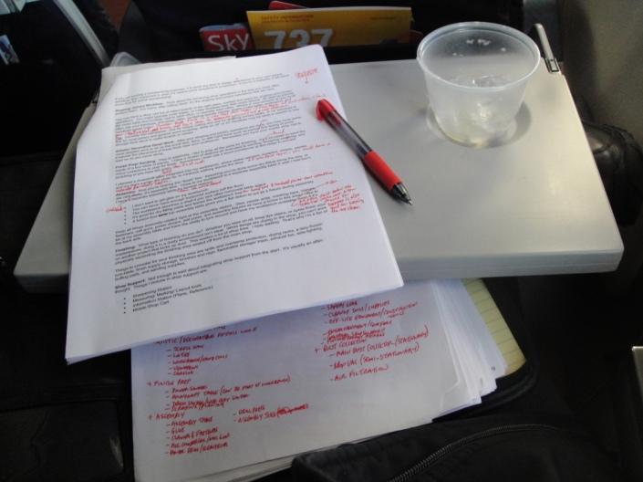 Blog-Writing-on-a-Plane